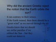 Ancient Astronomy - Ann Arbor Earth Science