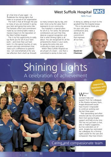 Shining Lights - April 2006 - West Suffolk Hospital