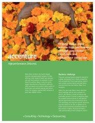 Helping Dabur India achieve high performance through ... - Accenture