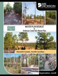 Anderson Creek Park Master Plan - Harnett County