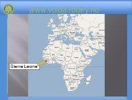 Volda Rotary + 8 andre klubber - Sierra Leone - Distrikt 2305