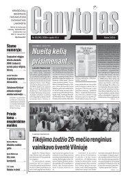 Nr. 20 (285) 2008 m. spalio 18 d. - Krikščionių bendrija TIKĖJIMO ...