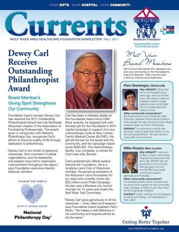 Dewey Carl Receives Outstanding Philanthropist Award - ThedaCare