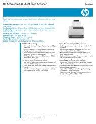 HP Scanjet 5000 Sheet-feed Scanner - Toshiba