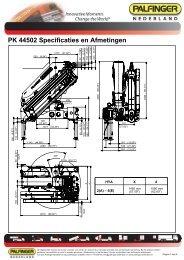 PK 44502 Specificaties en Afmetingen - Palfinger