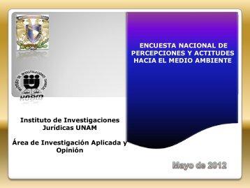 IIJ_Encuesta Nacional DE Percepciones y ACTITUDES hacia el Medio Ambiente