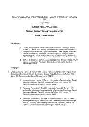 peraturan daerah kabupaten daerah muara enim nomor 13 tahun ...