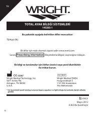 TOTAL AYAK BİLEĞİ SİSTEMLERİ - Wright Medical Technology, Inc.