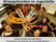 Stressprävention im Jugendalter - GNMH.de