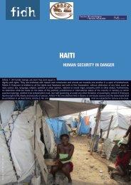 Haiti: Human Security in Danger