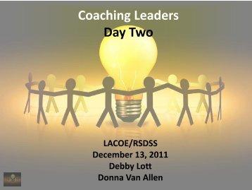 Coaching Leaders Workshop - rsdss
