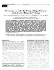 The Advances in Molecular Biology of Hepatoblastoma: Implications ...