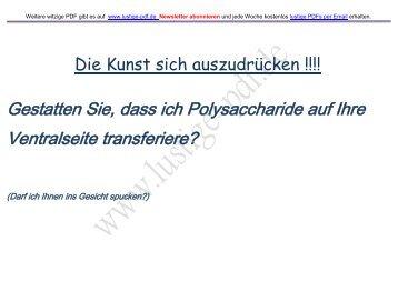 Gestatten Sie, dass ich Polysaccharide auf Ihre ... - Lustige-pdf.de