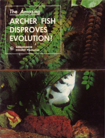 Archer Fish Disproves Evolution - Church of God - NEO
