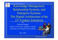 Knowledge Management, Relationship Systems, and Enterprise ...