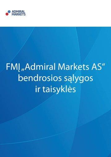 "FMĮ ""Admiral Markets AS"" bendrosios sąlygos ir taisyklės"