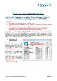 Umstellung sm@rt-TAN VR-NetWorld - Volksbank Dillingen eG