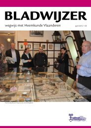 Bladwijzer 4 (pdf, 1,9 mb) - Heemkunde Vlaanderen