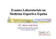 Exames Laboratoriais na Medicina Esportiva Equina - SOVERGS