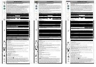 Benutzerinformation User Information Informazioni per l'utente