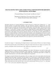 change detection using iteratively reweighted regression with neural ...