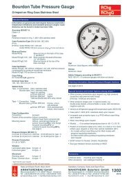 Data Sheet 1202 Bourdon Tube Pressure Gauge, Crimped-on ring ...