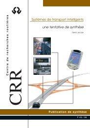 systèmes de transport intelligents une tentative de synthèse - CRR