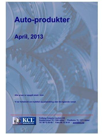 Auto-produkter - Kolberg Caspary Lautom AS