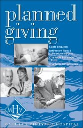 planned giving - Martha's Vineyard Hospital