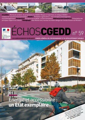 Les ÉchosCGEDD n°59 - Novembre 2008