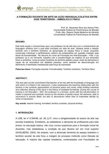 a formação docente em arte na ação individual/coletiva ... - anpap