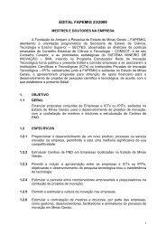 edital fapemig 23/2009 mestres e doutores na empresa