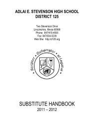 Sub Handbook 2011-12 - Adlai E. Stevenson High School
