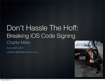 Breaking iOS Code Signing - Reverse Engineering Mac OS X