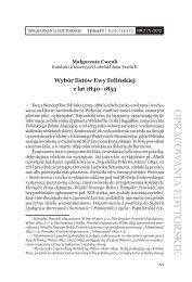 Wybór listów Ewy Felińskiej z lat 1840-1855