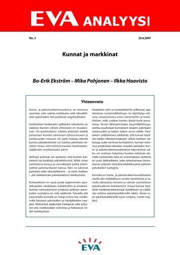 Kunnat ja markkinat - Eva