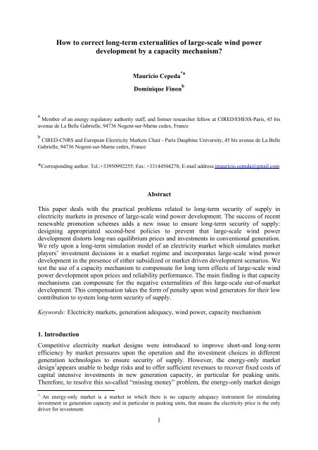 How to correct long-term externalities of large-scale wind power ...