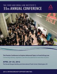 55th ANNUAL CONFERENCE - Food and Drug Law Institute