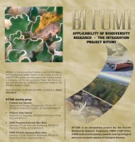 BITUMI is an integration project for the Finnish Biodiversity ... - FIBRE