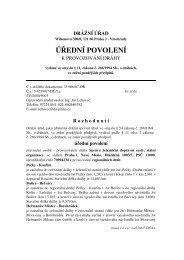 Úřední povolení na provozování dráh regionálních - Drážní úřad