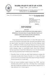 MAHKAMAH SYAR'IYAH ACEH - MS Aceh
