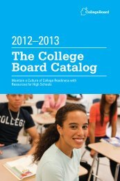 The College Board Catalog - SAT