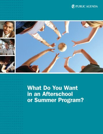 What Do You Want in an Afterschool or Summer Program?
