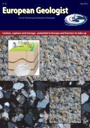 N° 33 May 2012 European Geologist - European Federation of ...