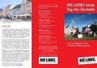 DIE LINKE beim Tag der Sachsen - Fraktion DIE LINKE im ...