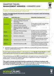 2009 Awards Case Studies - Moving Somerset Forward
