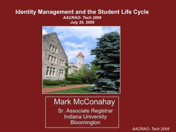 The Student Identity Life Cycle - AACRAO