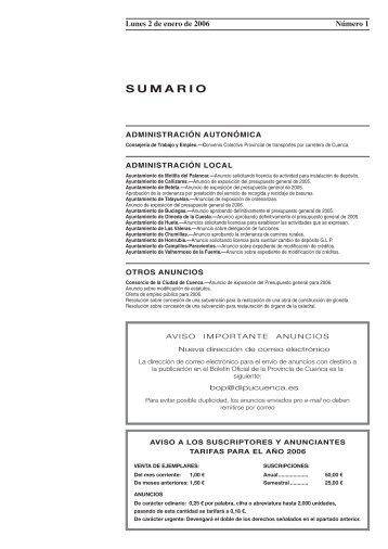 SUMARIO - Federación de Servicios a la Ciudadanía