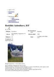 Roskilde: kolonihave, H/F