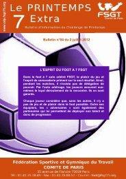 Bulletin n°4 - Le challenge du Printemps FSGT